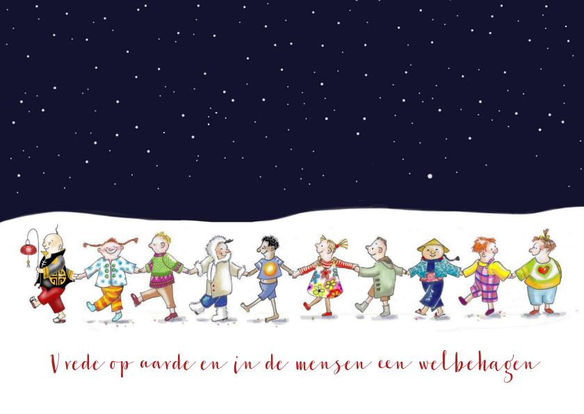 Kerstkaarten - Kerst - vredeskinderen