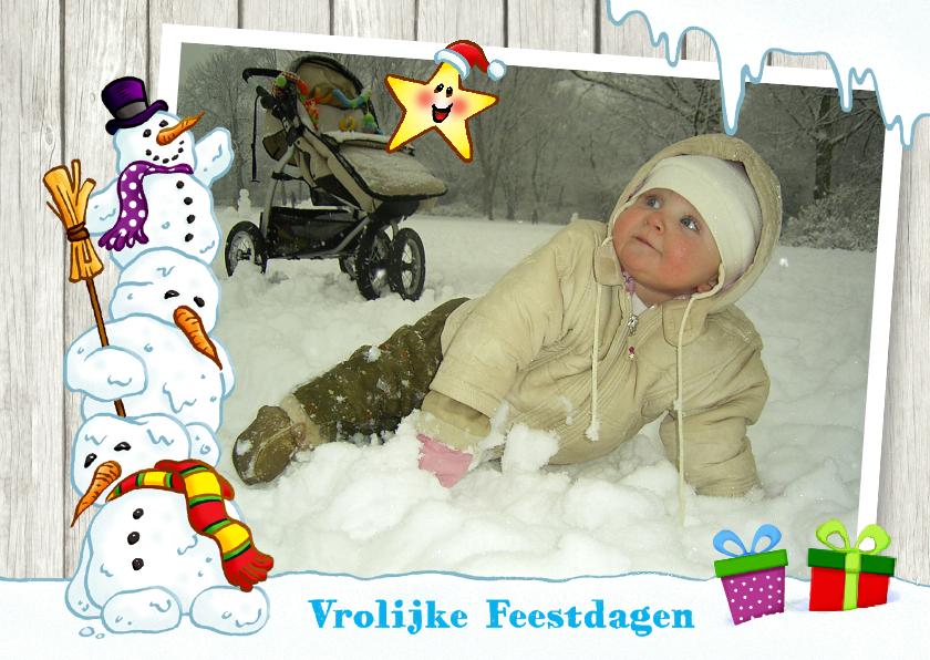 Kerstkaarten - Kerst Vrolijke sneeuwmannen