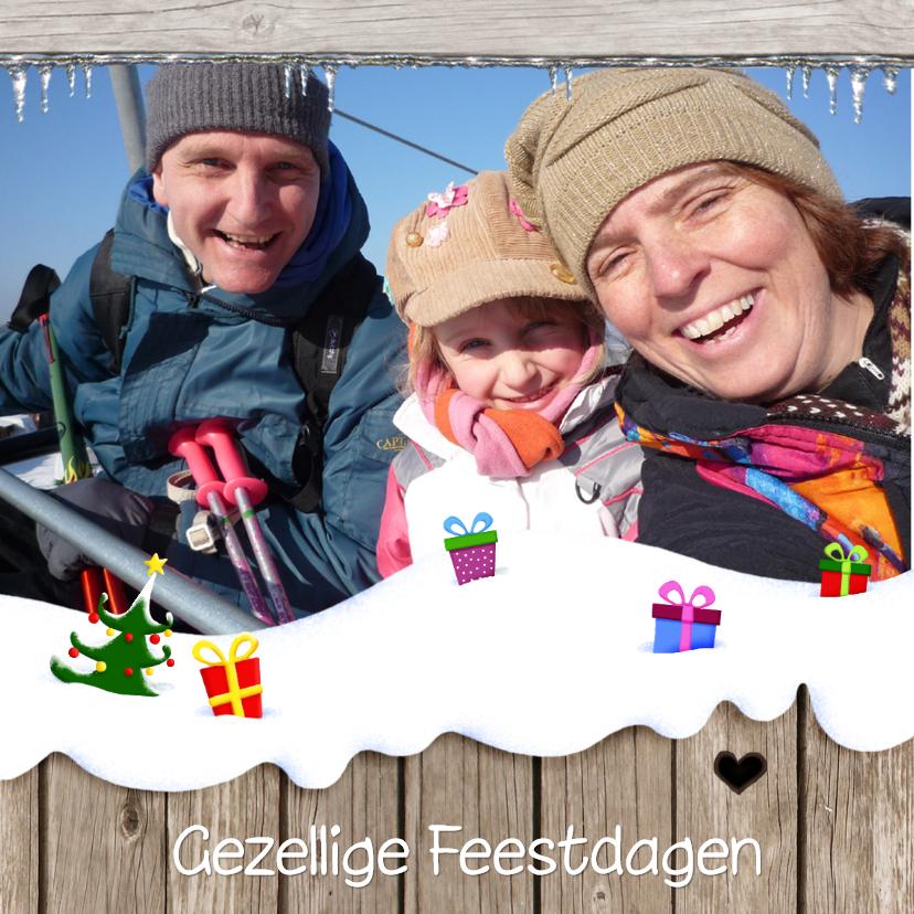 Kerstkaarten - Kerst Vrolijke Sneeuwplaat