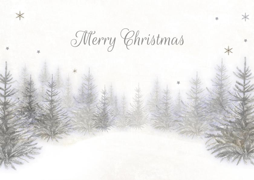 Kerstkaarten - Kerst winter bos