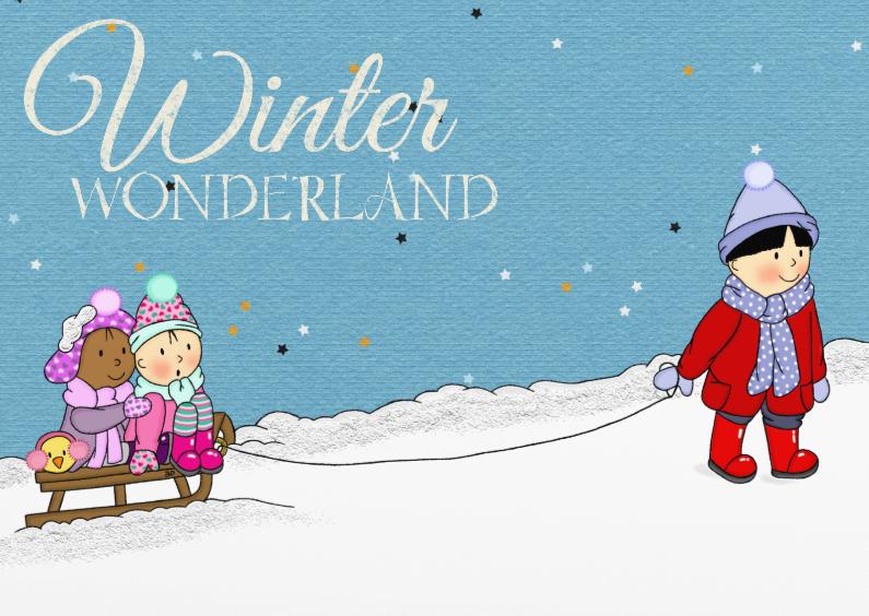 Kerstkaarten - Kerst Winter Wonderland - TbJ