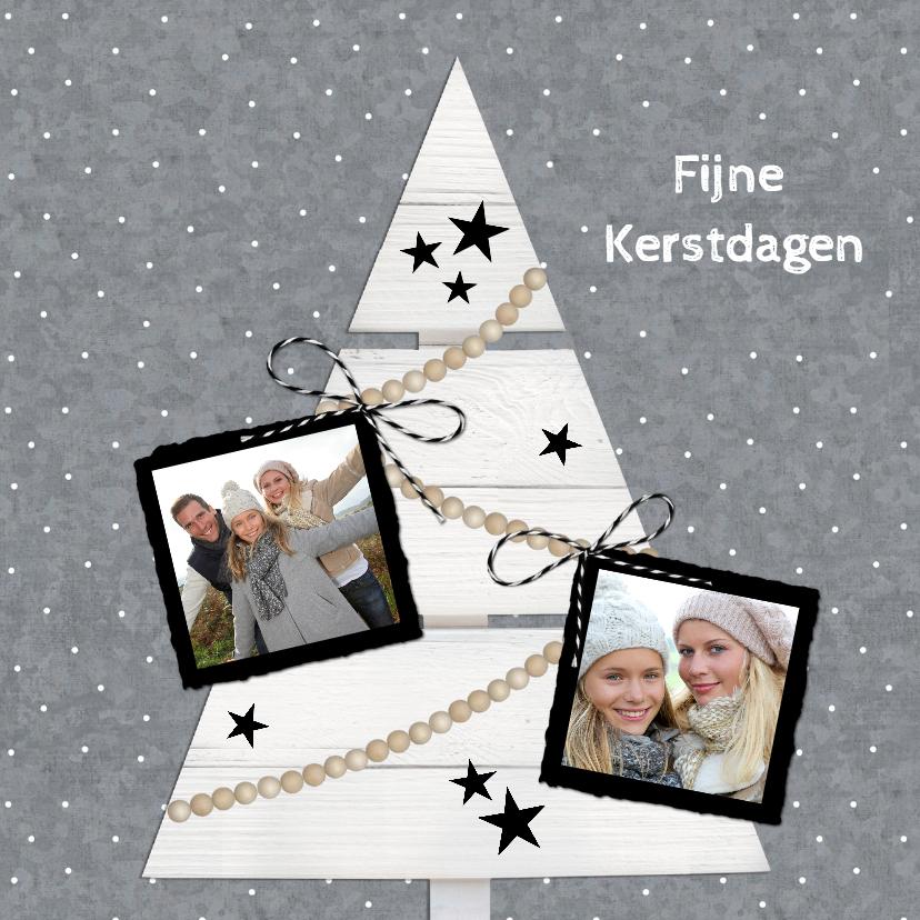Kerstkaarten - Kerst Zink Witte Kerstboom VK