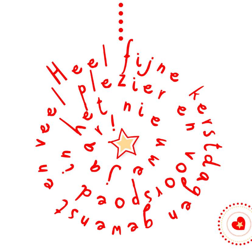 Kerstkaarten - kerstbal met tekst - vk IF