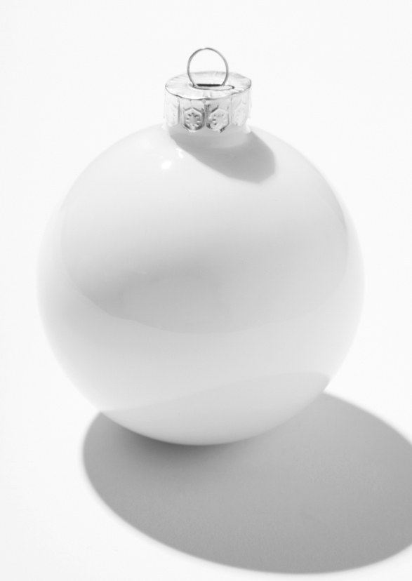 Kerstkaarten - Kerstbal minimal white