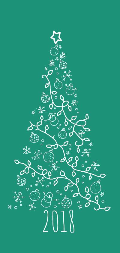 Kerstkaarten - Kerstboom 2018 Kies je Kleur - AW