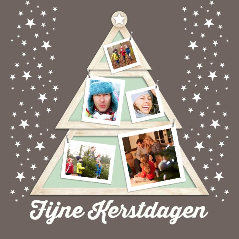 Kerstkaarten - Kerstboom houten lijst-isf
