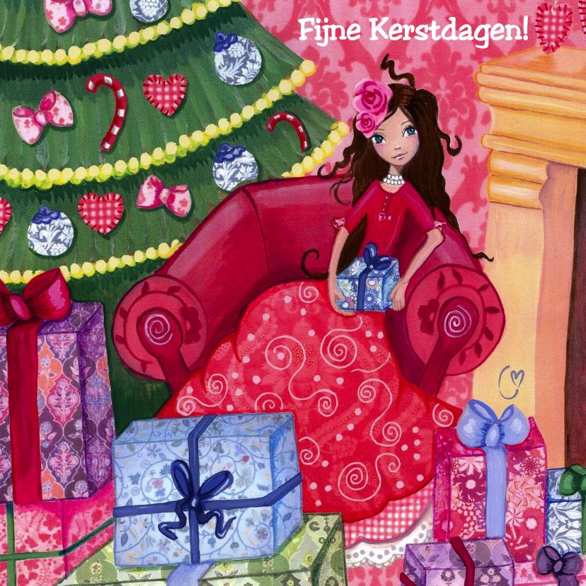 Kerstkaarten - Kerstboom KADO Kerst Illustratie