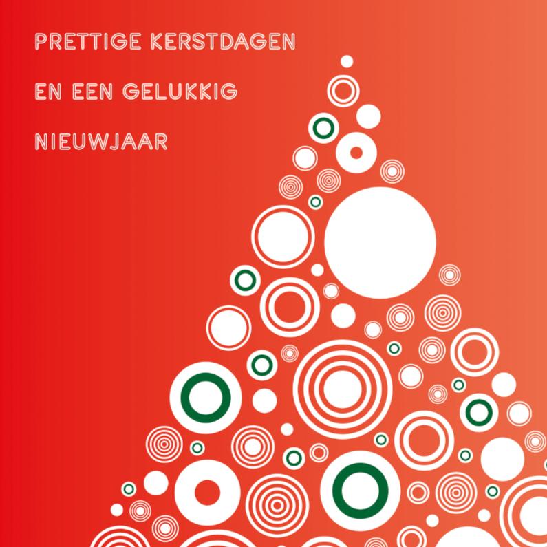 Kerstkaarten - Kerstboom met ballen