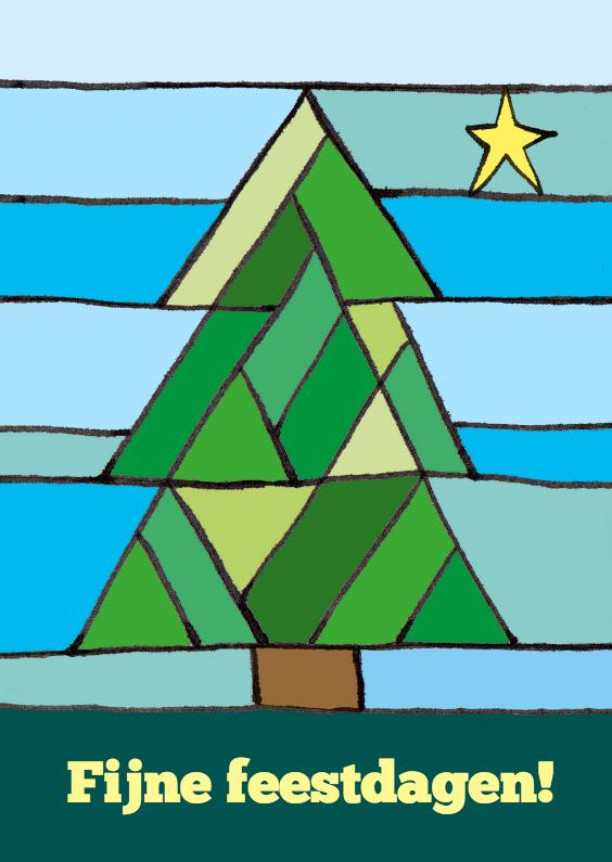 Kerstkaarten - Kerstboom met ster