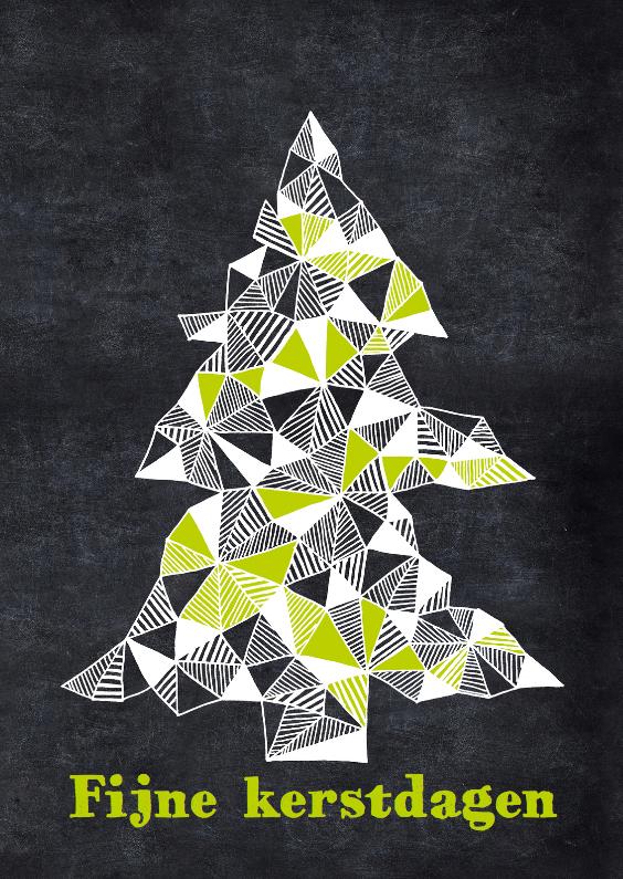Kerstkaarten - Kerstboom op krijtbord