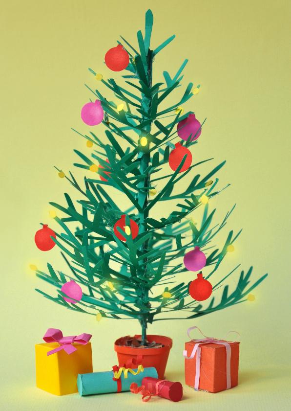 Kerstkaarten - Kerstboom van papier