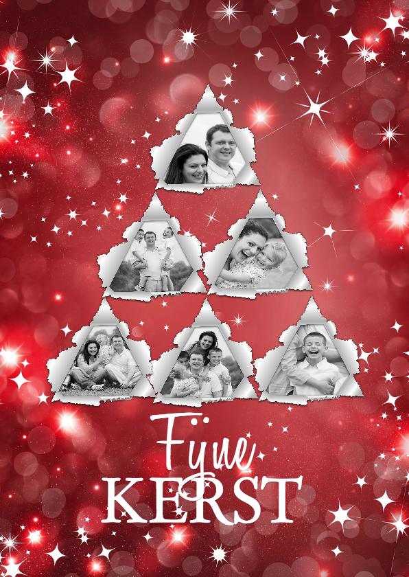 Kerstkaarten - Kerstboomfoto sterren