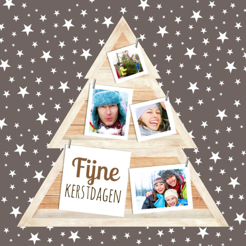 Kerstkaarten - kerstboomkastje met foto's-isf