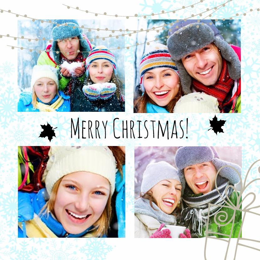 Kerstkaarten - Kerstcollage 4 foto's V - BK