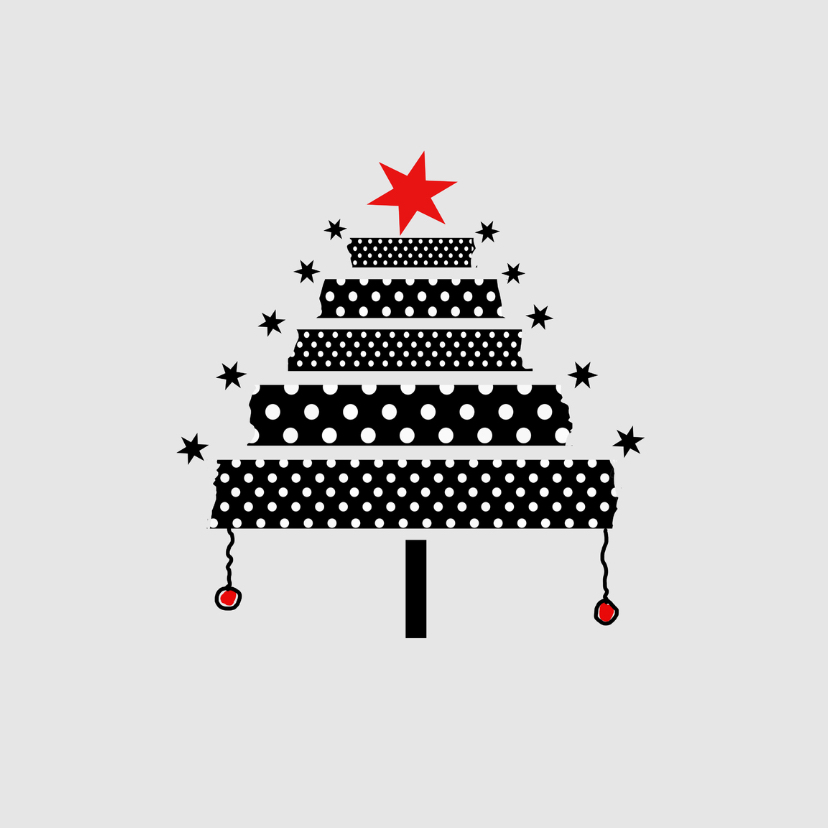 Kerstkaarten - Kerstdagen Stippenboom Y