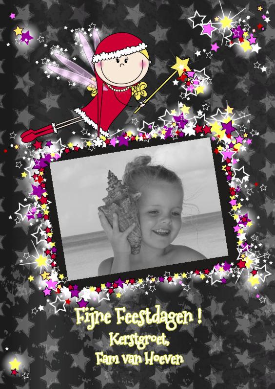 Kerstkaarten - KERSTengeltje fotokaart ster S