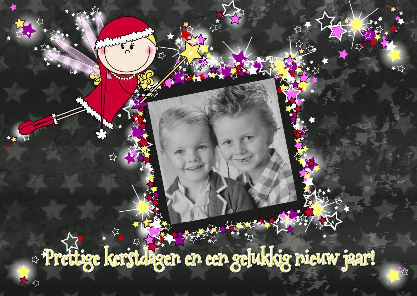 Kerstkaarten - Kerstengeltje fotokaart ster