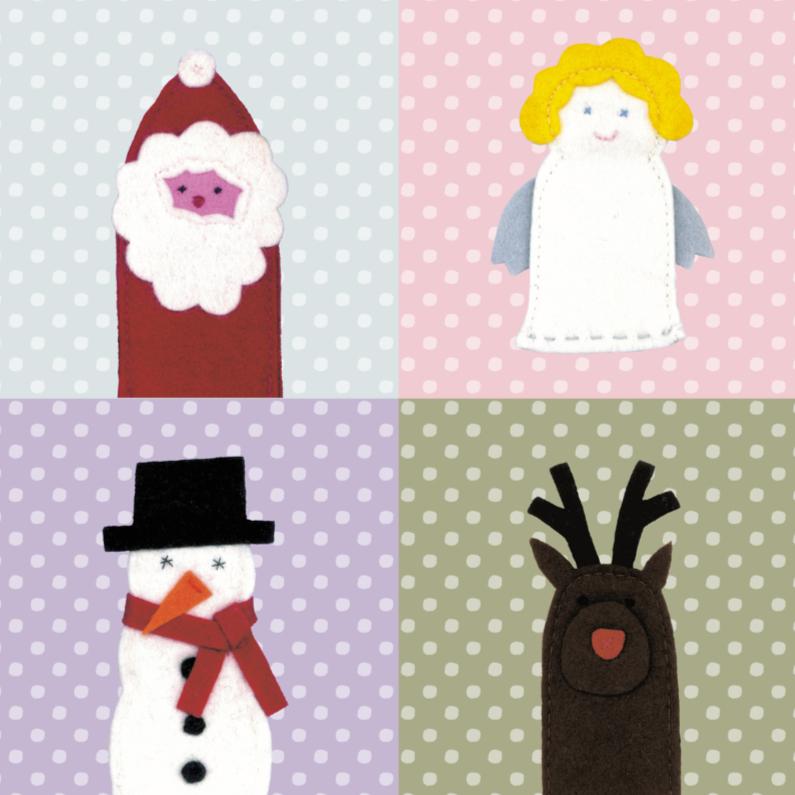 Kerstkaarten - Kerstfiguurtjes