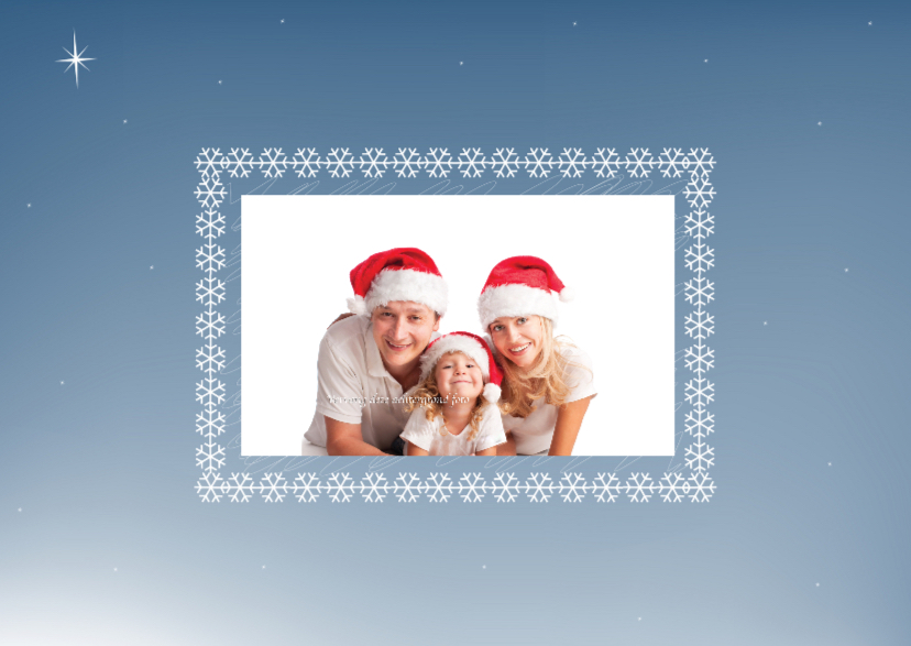 Kerstkaarten - kerstfotogroet