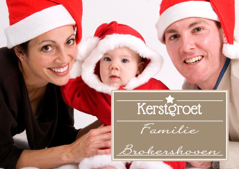 Kerstkaarten - Kerstgroet Label - BK