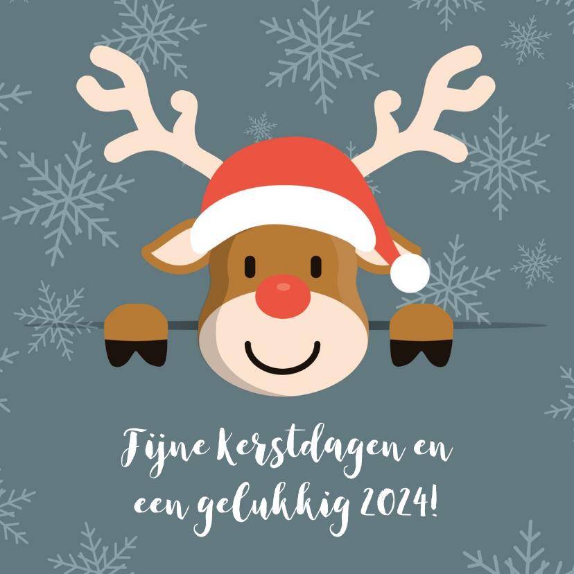 Kerstkaarten - Kerstgroet van Rudolf