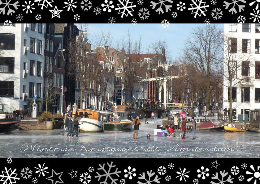 Kerstkaarten - Kerstgroet winters Amsterdam