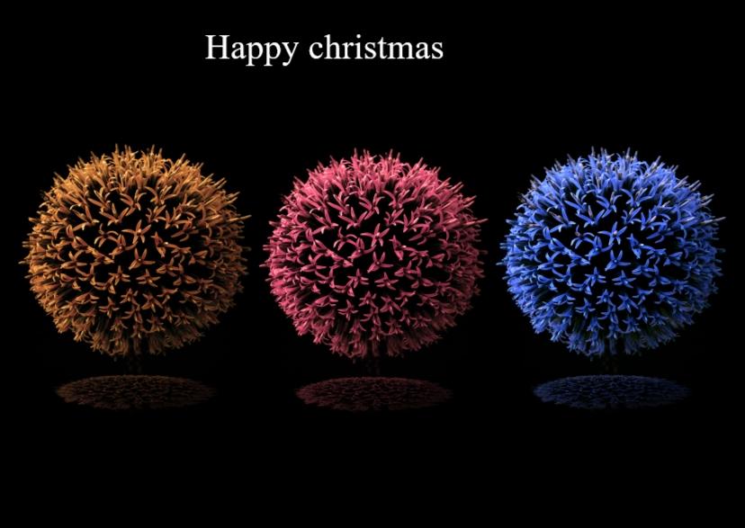 Kerstkaarten - kerstkaart 3 maal bloemknop