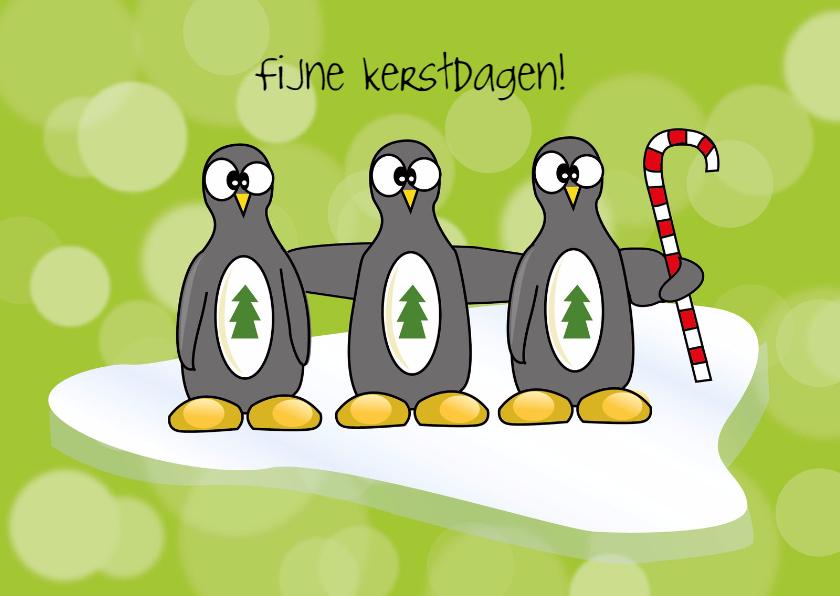Kerstkaarten - Kerstkaart 3 pinguins - SZ