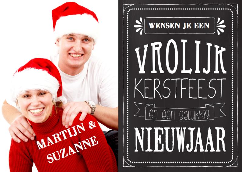 Kerstkaarten - Kerstkaart affiche tekst foto