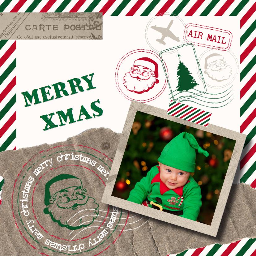 Kerstkaarten - Kerstkaart airmail en foto