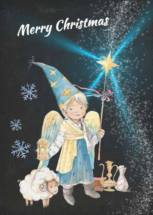 Kerstkaarten - Kerstkaart angels recht