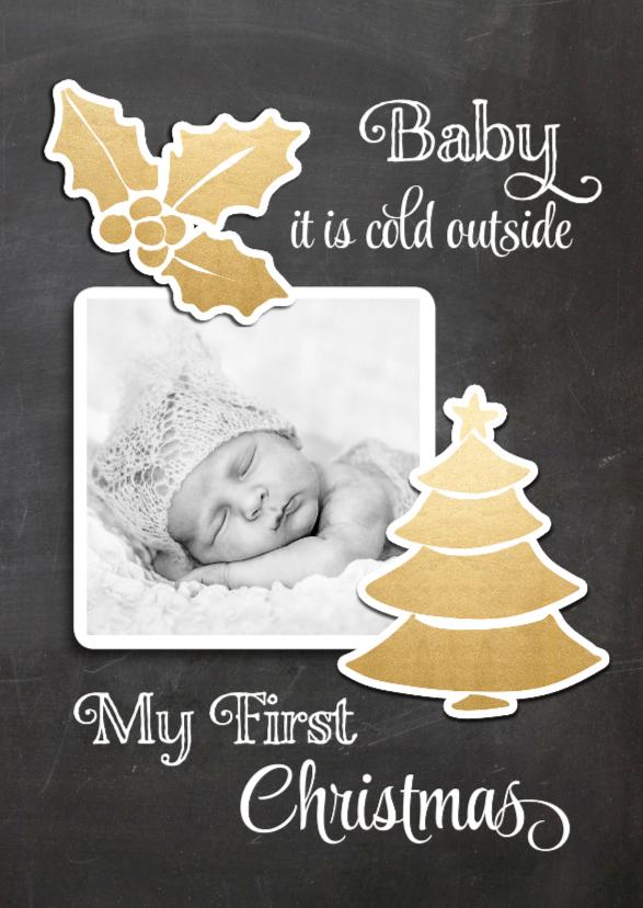 Kerstkaarten - Kerstkaart Baby's first Xmas - SG
