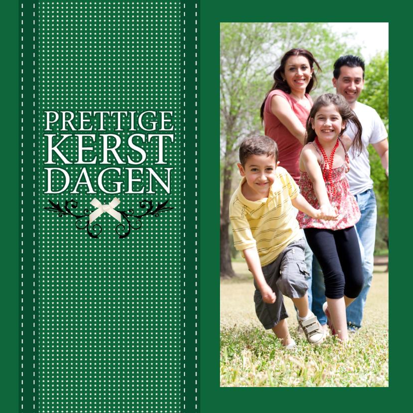 Kerstkaarten - Kerstkaart band groen - Remco