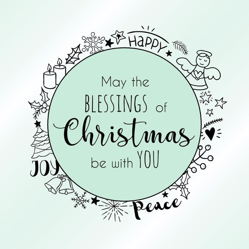 Kerstkaarten - Kerstkaart Blessings 3 - WW
