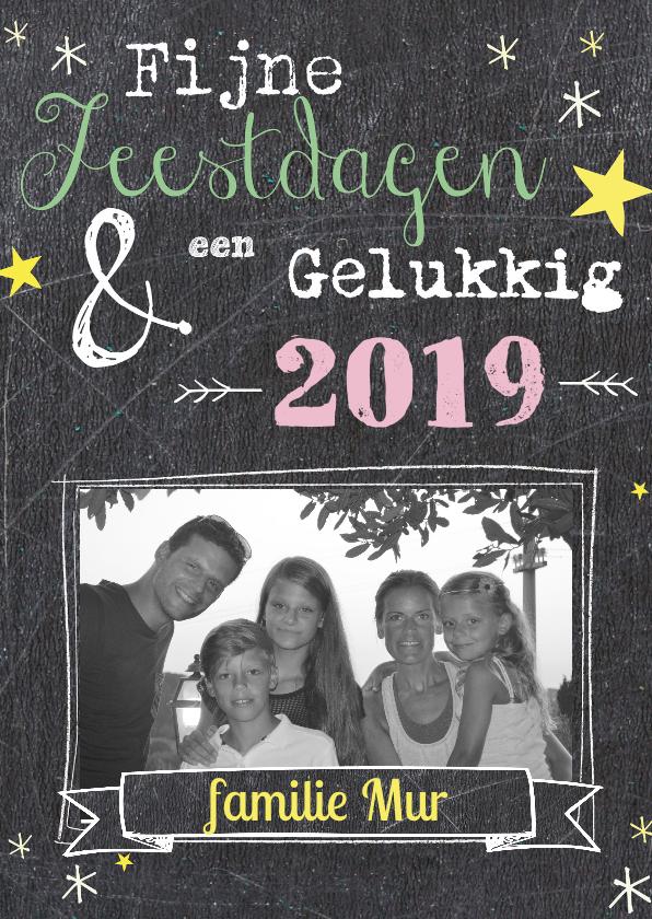 Kerstkaarten - Kerstkaart bord met foto 2019