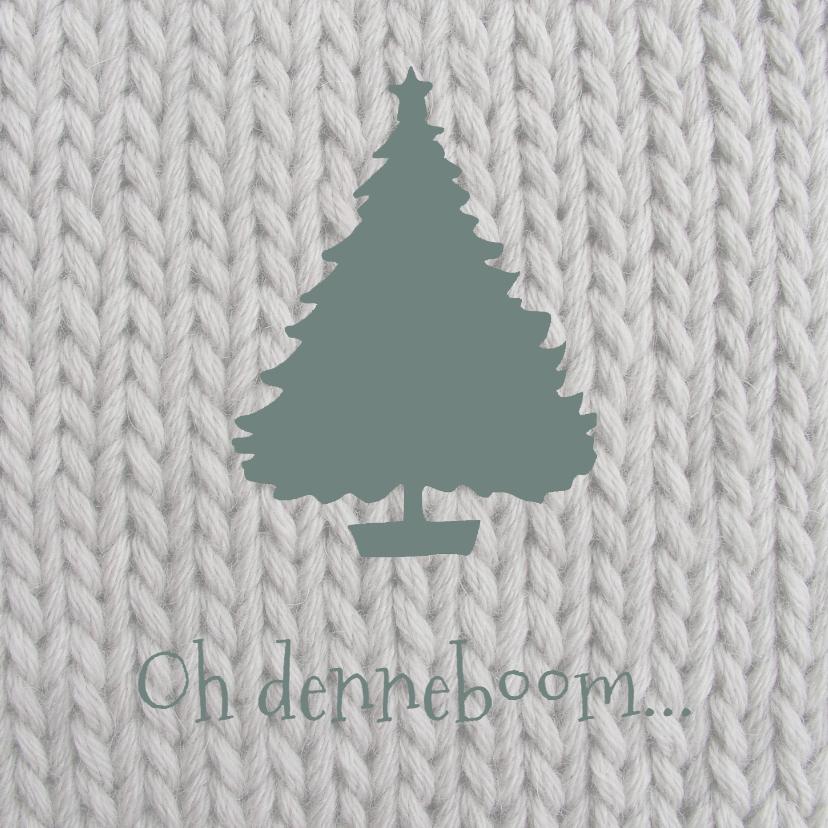 Kerstkaarten - Kerstkaart  Breiwerk Denneboom