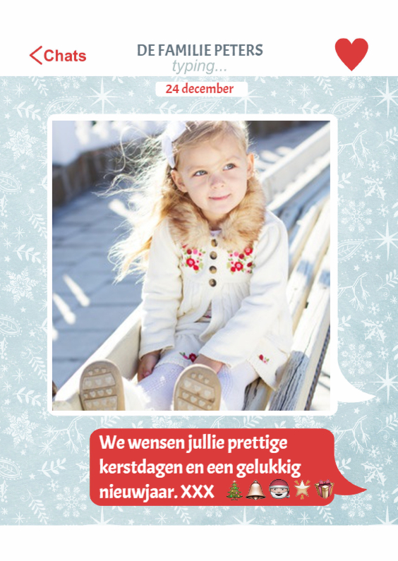 Kerstkaarten - Kerstkaart Chat Kerst Wensen