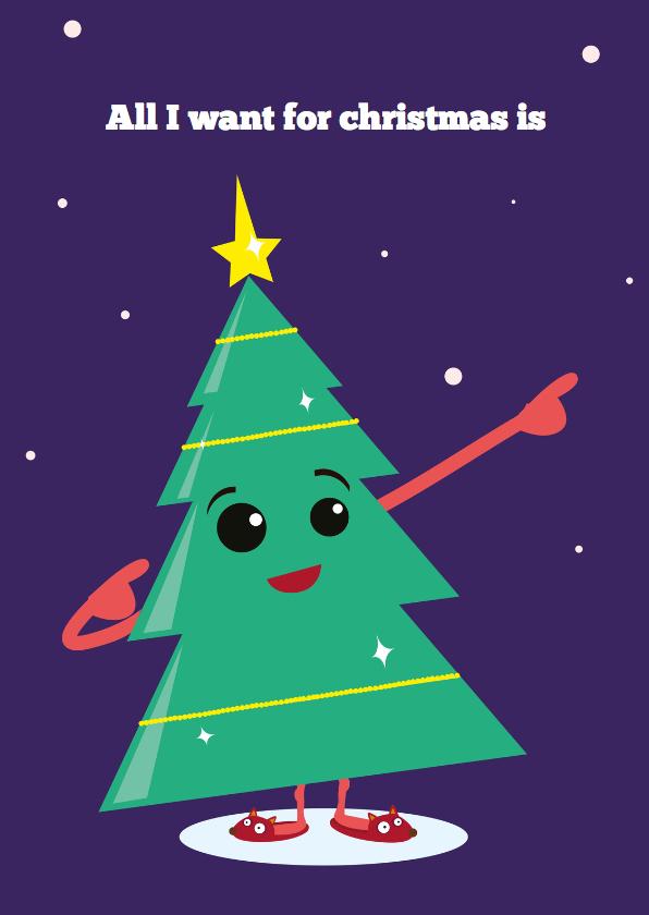 Kerstkaarten - Kerstkaart - Christmas tree fun