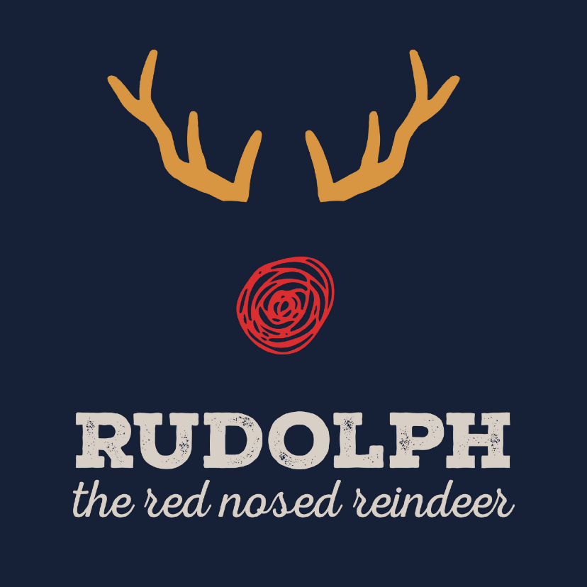 Kerstkaarten - Kerstkaart Cliniclowns Rudolph