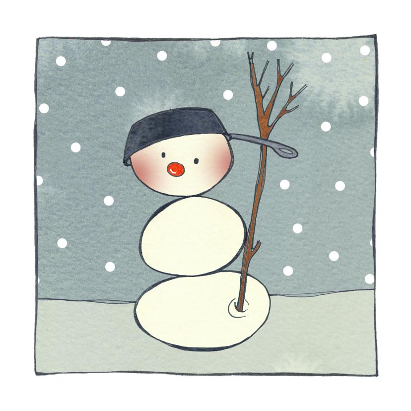 Kerstkaarten - Kerstkaart CliniClowns snowman