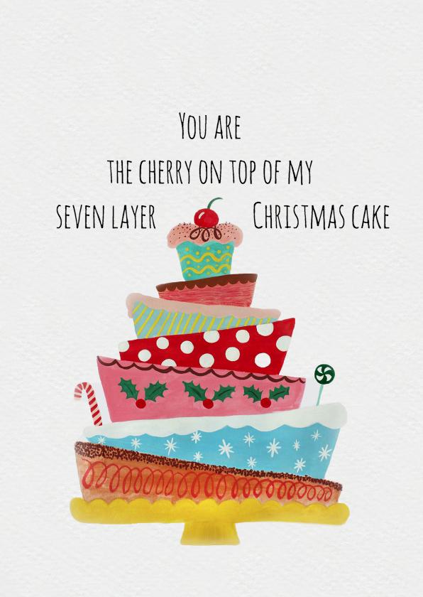 Kerstkaarten - Kerstkaart CliniClowns taart