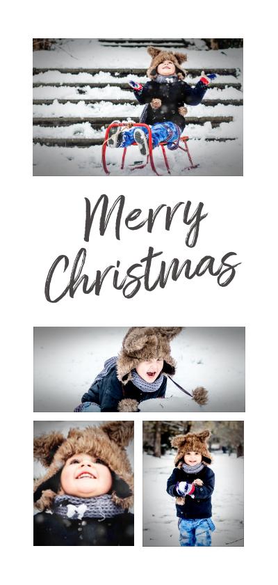 Kerstkaarten - Kerstkaart collage 4 foto's langwerpig