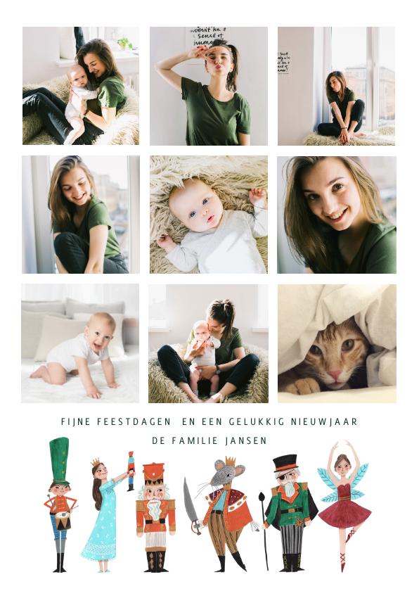 Kerstkaarten - Kerstkaart collage notenkraker ballet