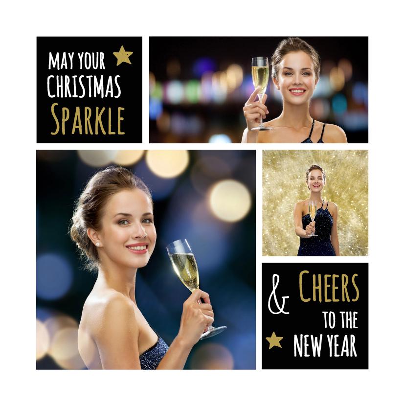 Kerstkaarten - Kerstkaart collage sparkle - OT