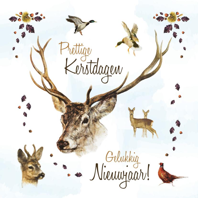 Kerstkaarten - Kerstkaart collage wild