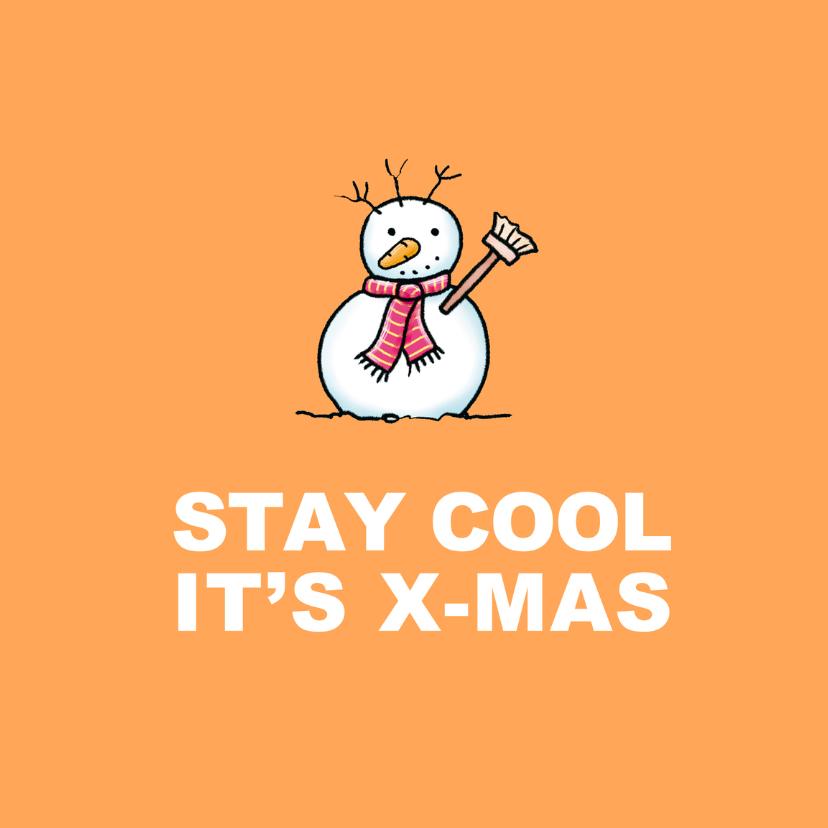 Kerstkaarten - Kerstkaart Coole Sneeuwman