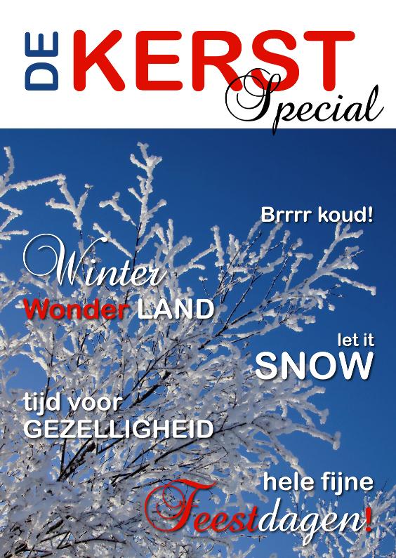 Kerstkaarten - Kerstkaart cover magazine sneeuw