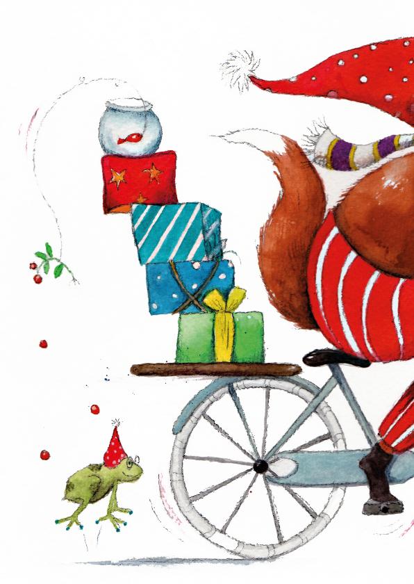 Kerstkaarten - Kerstkaart de pakjes leverancier