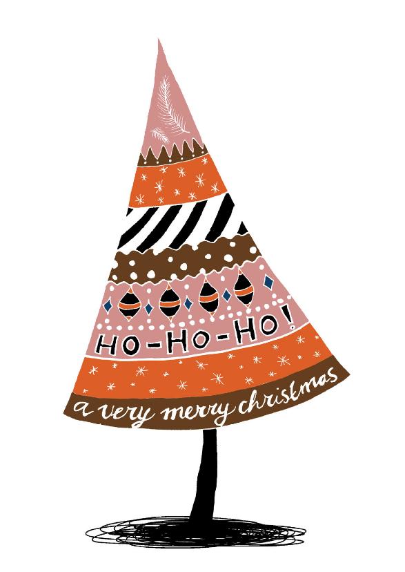 Kerstkaarten - Kerstkaart doodles retro-HR