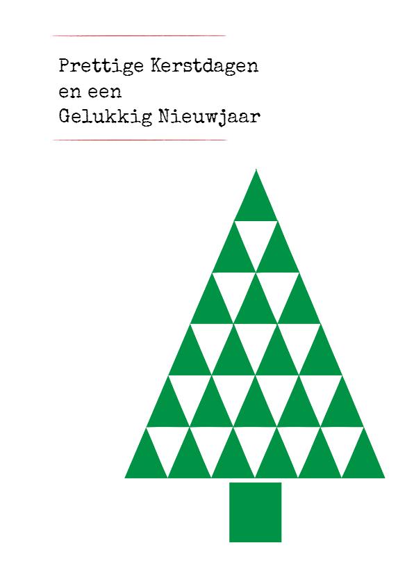 Kerstkaarten - kerstkaart driehoek patroon